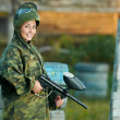 Girl paintball player — Stock Photo #8879766