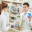 Medical pharmacy drug purchase — 图库照片
