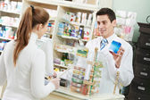 Medical pharmacy drug purchase — Foto Stock