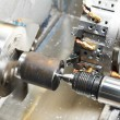 Metal blank machining process — Stock Photo #9065444