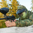 Paintball spelare — Stockfoto #9371727