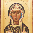 Religious Orthodox icon of God mother — Stock fotografie #9375322