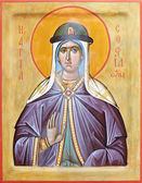 Icon of saint Sophia of Slutsk — 图库照片