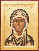 Religious Orthodox icon of The God mother — Stok fotoğraf