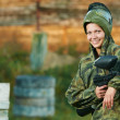 Girl paintball player — Stock Photo #9452268