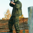 Man paintball player — Stock Photo #9452288