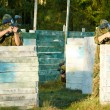 Stock Photo: Two paintball players