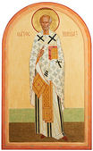 Icon of Saint Nicolas — Stock Photo