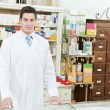 Stock Photo: Pharmacy chemist min drugstore