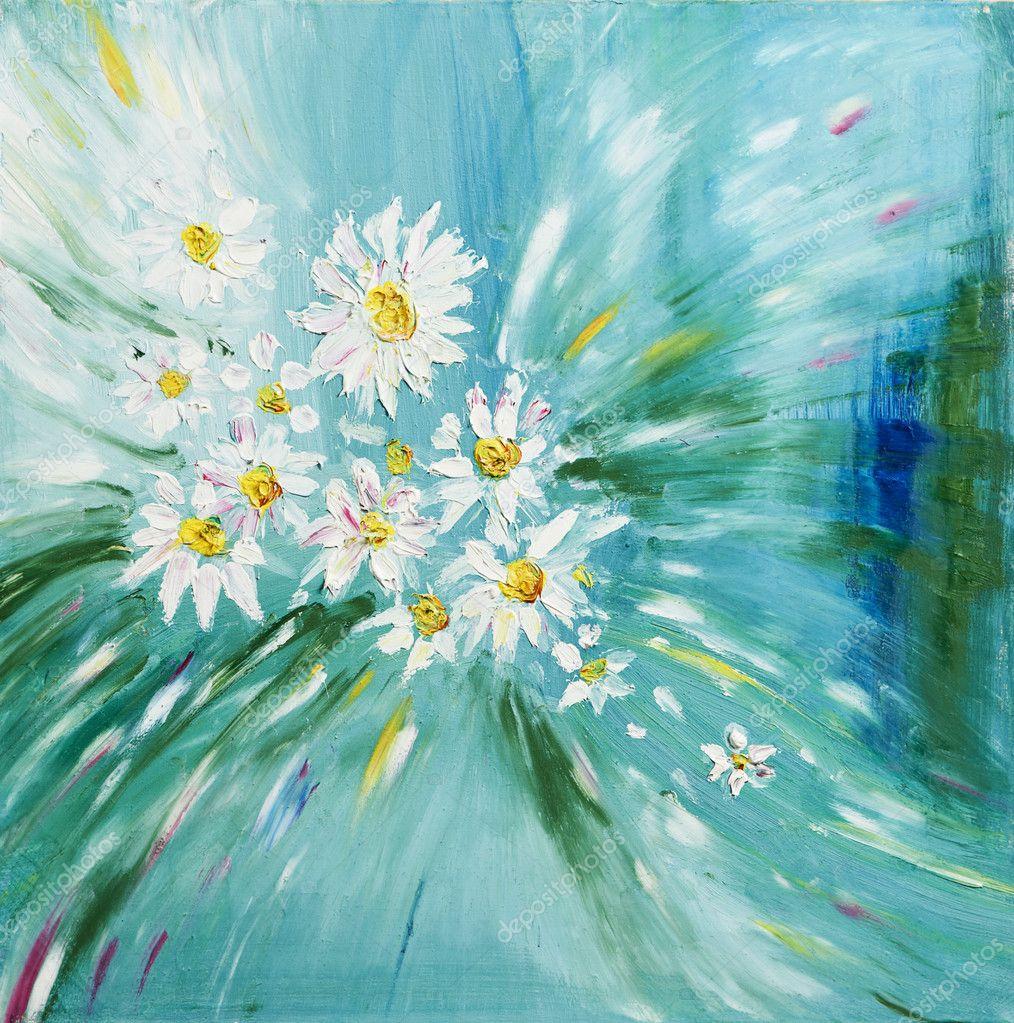 Нарисовать цветы красками своими