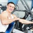 Stock Photo: Bodybuilder man doing biceps muscle exercises