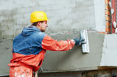 Facade Plasterer at work — Stock Photo