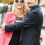 man en meisje op een datum — Stockfoto