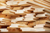 Set of wood lumber materials — Foto Stock