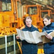 Experienced industrial assembler workers — Stock Photo #9938378