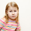 Stock Photo: Little child girl portrait. One person.