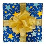Blue gift box — Stock Photo #8031158