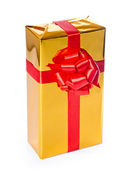 Golden gift box — Stock Photo