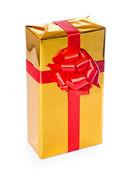 золотая подарочная коробка — Стоковое фото