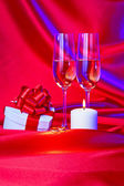 Proposal of marriage still life — Stock Photo