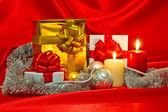 New Year, Christmas still life — Stockfoto