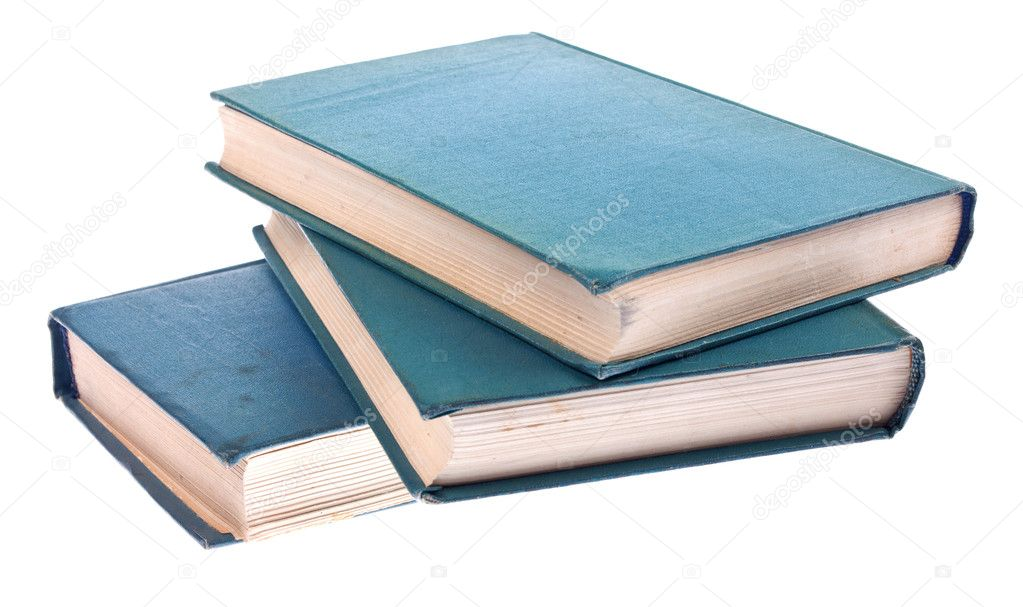 Old books isolated on white background — Stock Photo #10135966