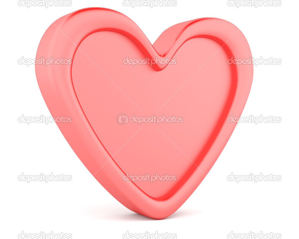 Red heart isolated on white background — Stock Photo #8953785