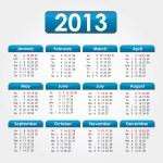 2013 Calendar — Stock Vector #8971073