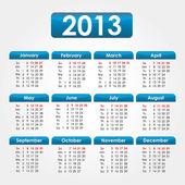 2013 kalendarz — Wektor stockowy