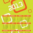 Calendar 2013. Green — Stock Vector