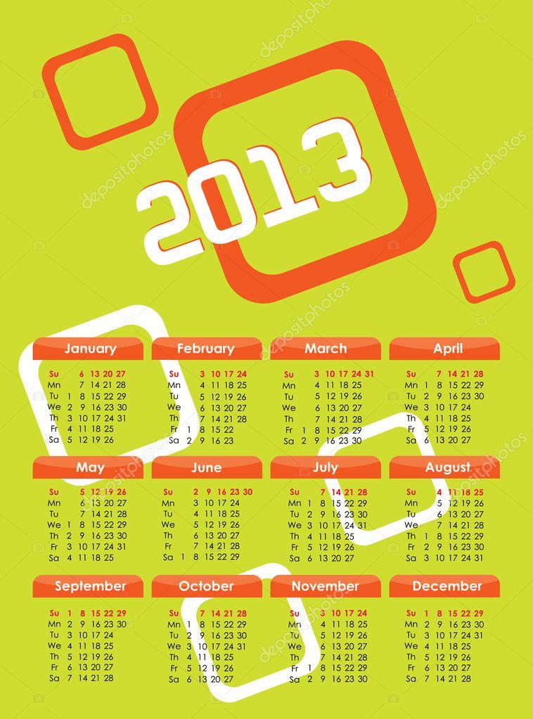Calendar Green : Calendar green — stock vector sova