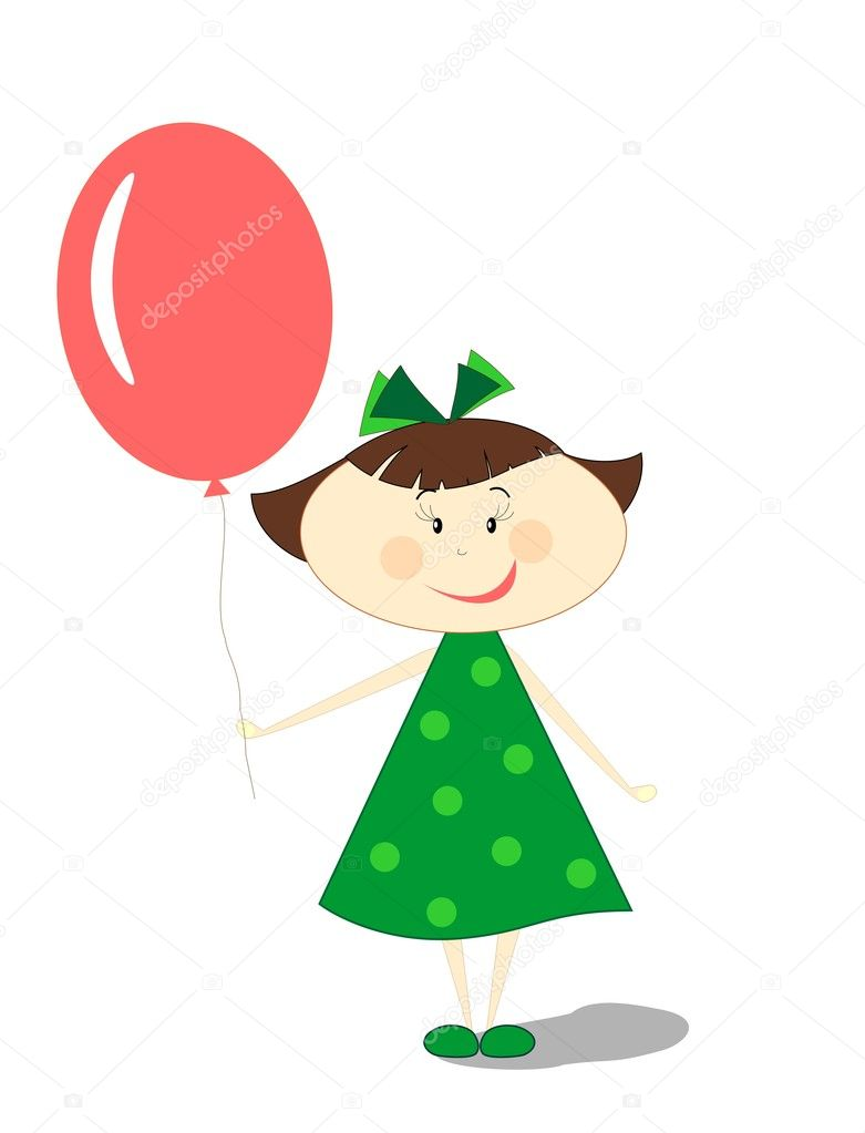Little girl with ballon — Stock Photo #10524684