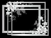 花と白いフレーム — ストック写真