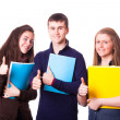 Teenage Students with Thumbs Up — Stock Photo #10039056