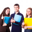 Stock Photo: Teenage Students with Thumbs Up