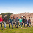 Multicultural Group of Walking Together — Stock Photo #10134637