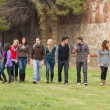 Multicultural Group of Walking Together — Stock Photo #10134672