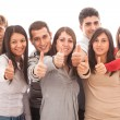 Happy Multiracial Group with Thumbs Up — Stock Photo #10221449