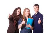 Nastoletnich uczniów z kciuki — Zdjęcie stockowe