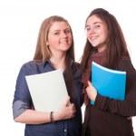 Two Female Teenage Students — Stock Photo