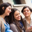 Group of Women Sending Message with Mobile Phone — Lizenzfreies Foto
