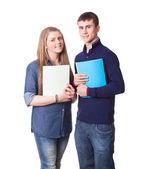 白十代の学生のカップル — ストック写真