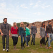 Multicultural Group of Walking Together — Stock Photo