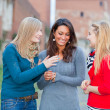 Stock Photo: Three Women Chatting Outdoor