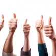 Thumbs Up on White Background — Stock Photo