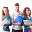 Stock Photo: Happy Students on White