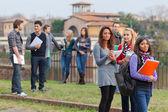 Studenti universitari multiculturale — Foto Stock
