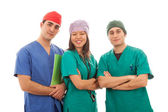 Multicultural Group of Doctors on White — Stock Photo