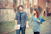 Young Couple of College Students — Stock Photo