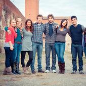 Grupo multicultural de — Fotografia Stock